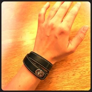 Coach Leather Wrap Bracelet